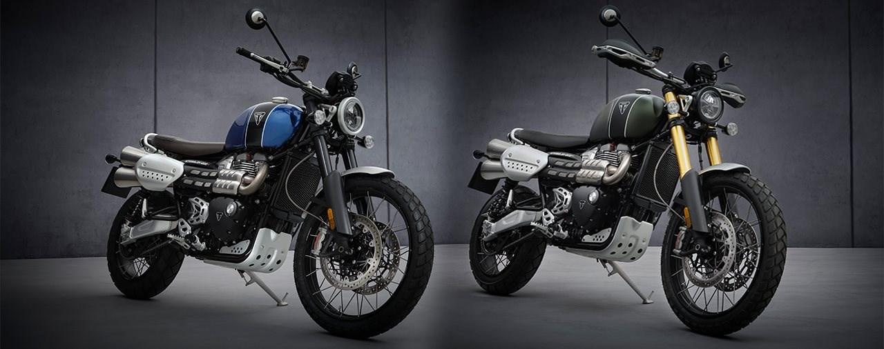 Neue Triumph Scrambler 1200 XC und XE 2021