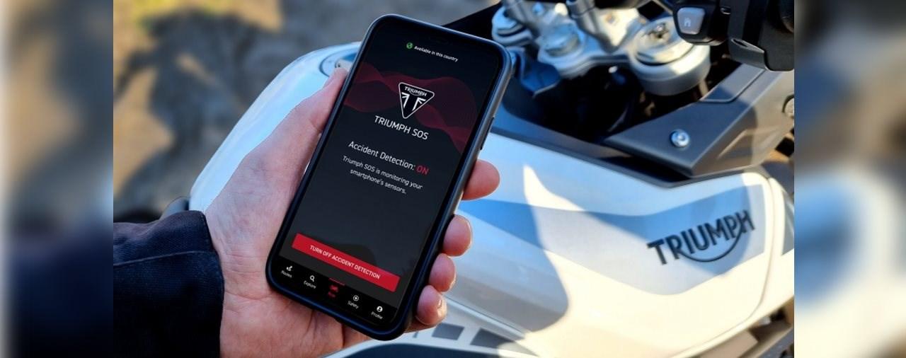 Neue TRIUMPH SOS-App für Motorräder