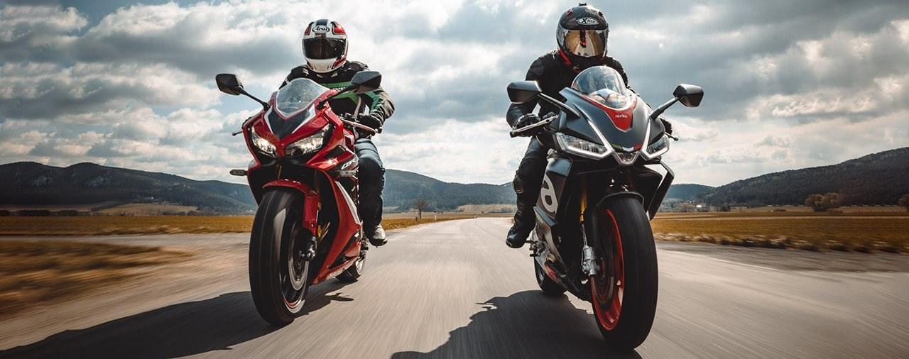 Honda CBR650R gegen Aprilia RS 660 Vergleich