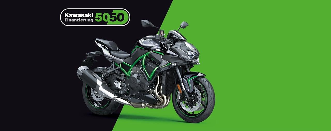 Kawasaki 50:50 Finanzierung auf neue Motorräder