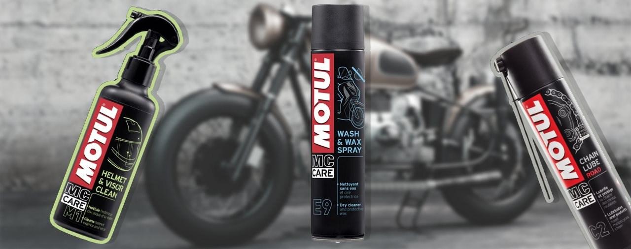 Motul Pflegeprodukte für dein Motorrad