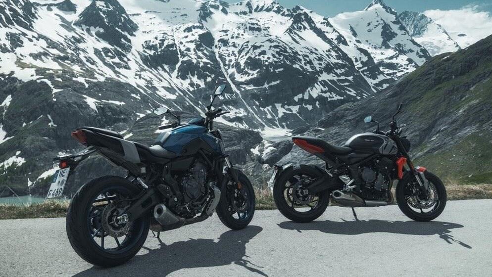 Triumph Trident 660 und Yamaha MT-07 2021 im Vergleich