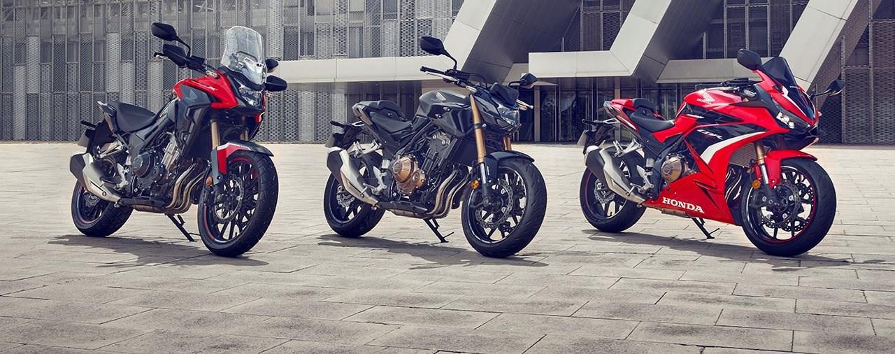 Honda CB500X, CB500F und CBR500R NEU für 2022