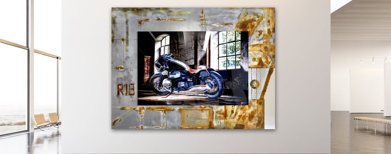 Benzinkopf veredelt Motorrad Fotographie
