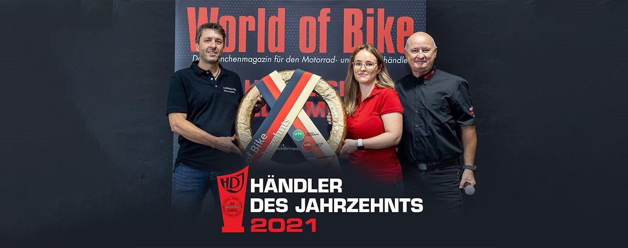 """Limbächer ist """"World of Bike - Händler des Jahrzehnts"""" 2010–2020"""
