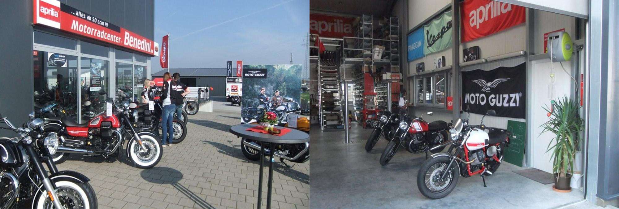 Aprilia, Moto Guzzi, Piaggio, Vespa und TGB ATV / Quad Vertragshändler, Motorradwerkstatt, KFZ- Meisterbetrieb.
