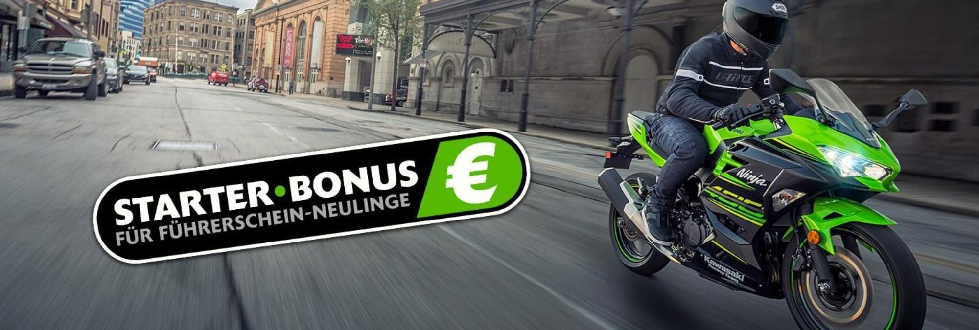 Holt Euch den Starter-Bonus von bis zu 800,- €, beim Kauf eines Neufahrzeuges.