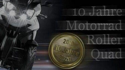 10 Jahre Motorrad Roller Quad