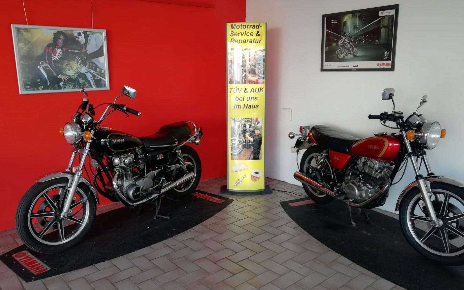 Motorrad Reparatur, Service, Reifen, TÜV und AUK