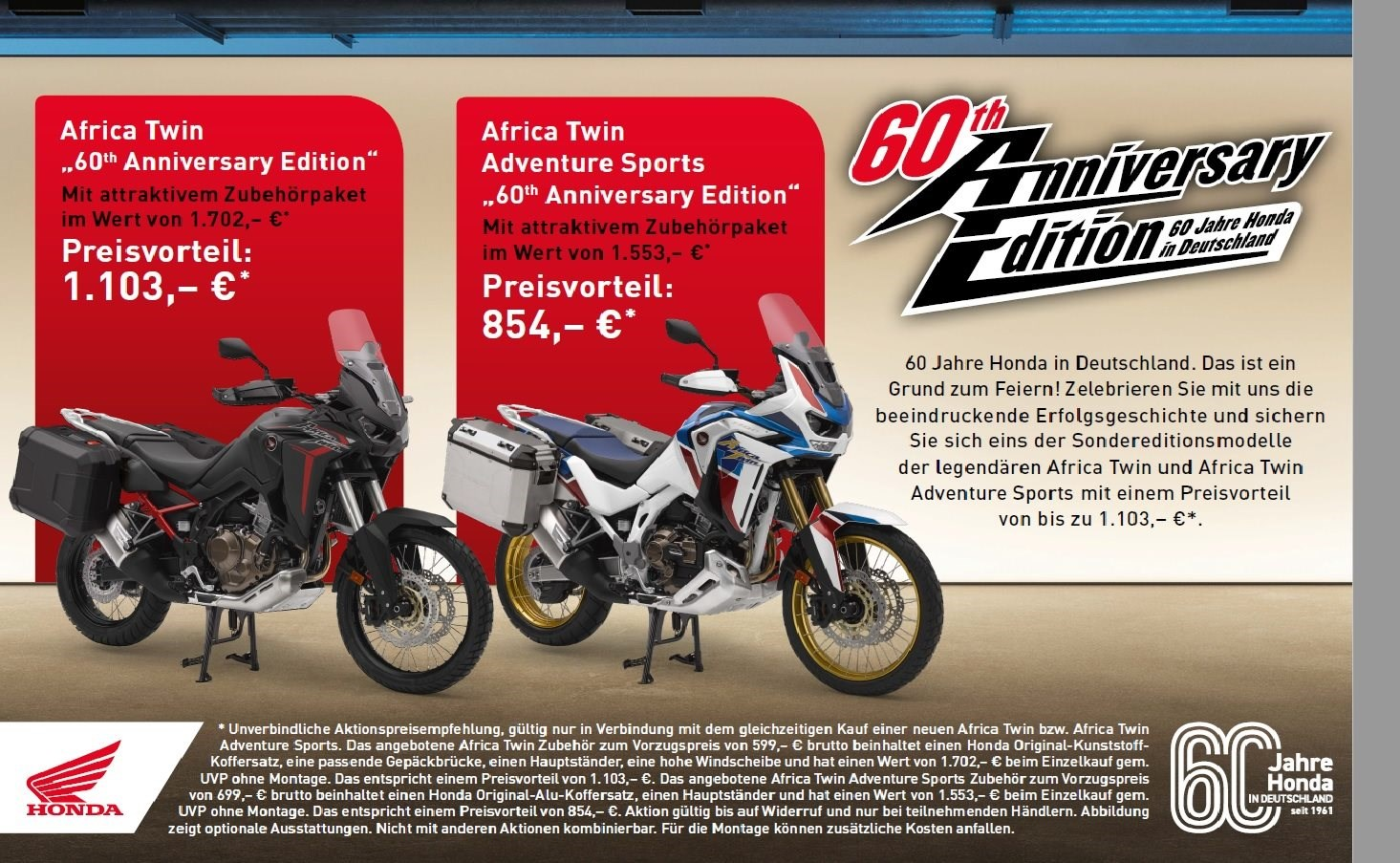 Africa Twin 60 Jahre Edition