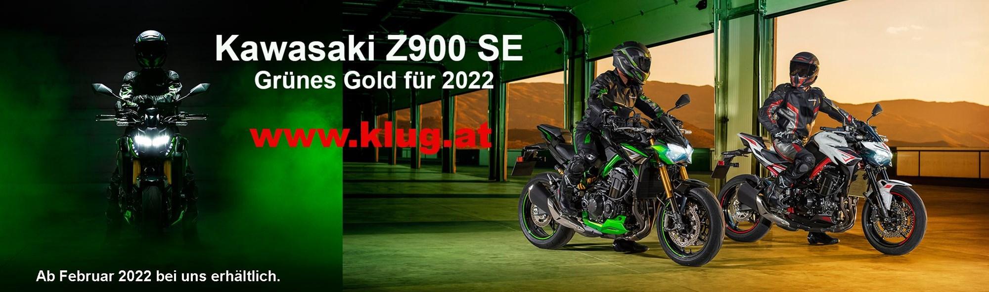 Die Z900 SE ist ab Februar 2022 bei uns erhältlich.