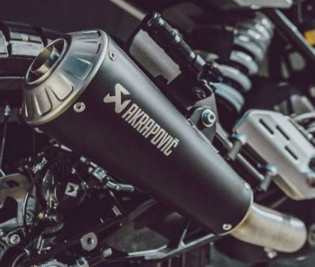 Sleek silencers for Husqvarna Motorcycles road machines