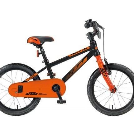 KTM  KID 16.1 schwarz/orange  KID 1.16 MTB Farbe: orange/blau Reifen: Kenda MTB 16x1,75 Gesamtgewicht: 9,5 kg