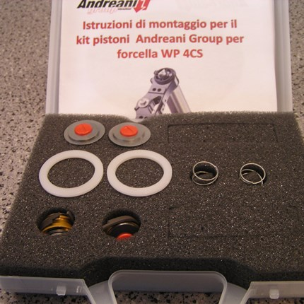 Andreani Umbaukit für WP 4 CS Gabel  Neuteil!! Andreani Umbaukit für WP 4 CS Gabel Modell: 4-Takt Enduro 2014-2015 Preis: € 99,00