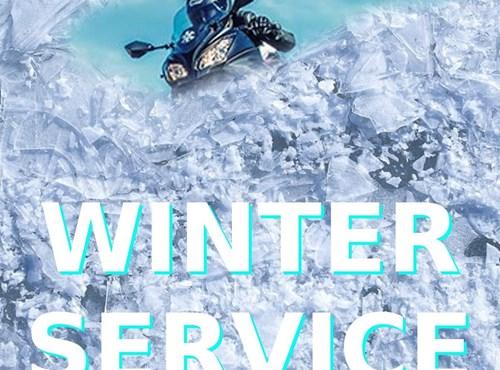 Winterlager Motorrad