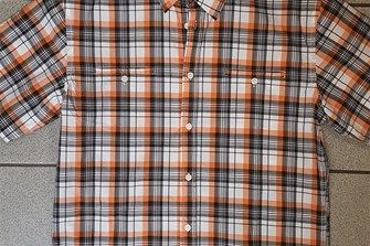 Checked Shortsleeve Shirt Orange M, L, XXL