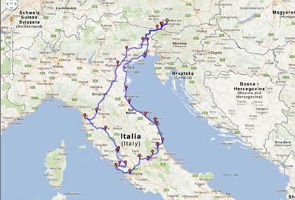 Motorrad Tour Einmal ROM und zurück