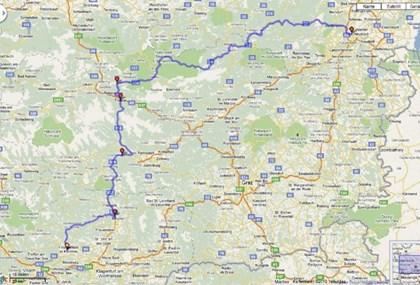 Motorrad Tour Von Feldkirchen in Kärnten nach Wiener Neustadt