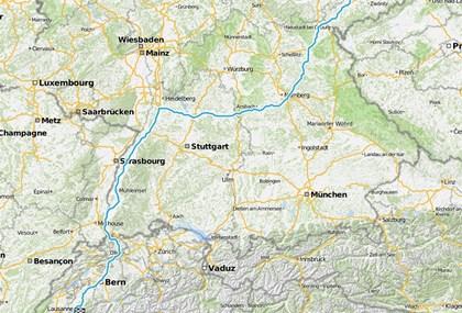 Motorrad Tour 8-Tage-Tour - Tag 1 - GC (D) > Montreux (CH)