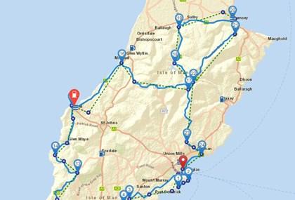 Motorrad Tour 9-Tage-Tour - Isle of Man - Tag 5 - der Süden