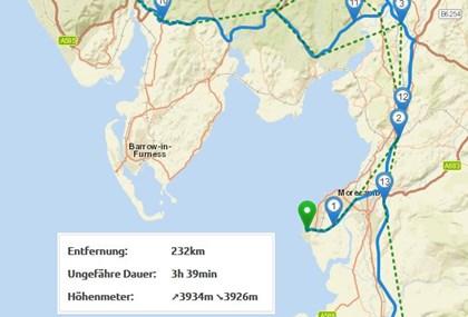 Motorrad Tour 9-Tage-Tour - Isle of Man - Tag 7 - Lake District