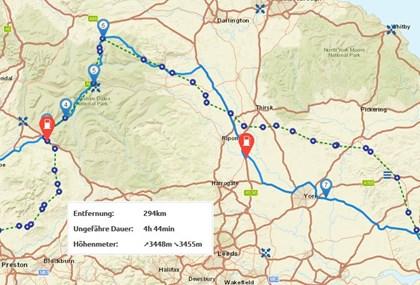 Motorrad Tour 9-Tage-Tour - Isle of Man - Tag 8 - Yorkshire-Dales