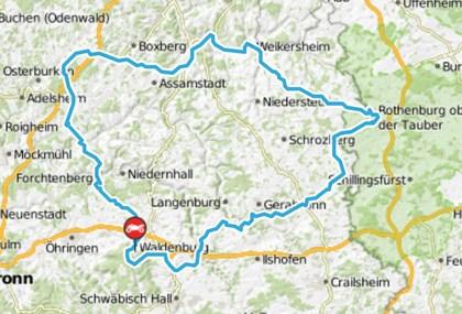 Motorrad Tour Waldenburg > Manta > Rothenburg ob der Tauber
