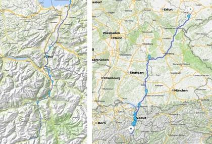 Motorrad Tour Alpen 2002 - [TAG 1] - Anfahrt
