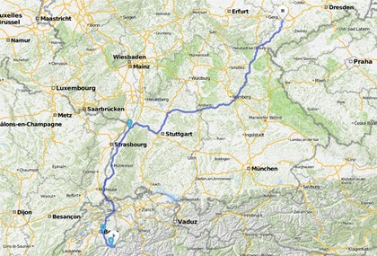 Motorrad Tour Alpen 2002 - [TAG 5] - Rückreise