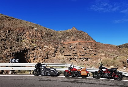 Motorrad Tour Gran Canaria Winterflucht Gipfelsturm