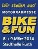 Wir sind dabei ! >>> Die BIKE & FUN Messe 2014 in Fürth öffnet Ihre Pforten am 08.+09.März 2014