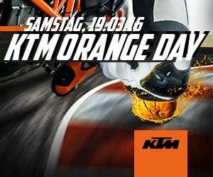 KTM Orange Day am 19. März 2016  Erleben Sie die aktuellen Modelle von KTM am 19. März 2016 beim jährlichen KTM Orange Day!  Wir freuen uns auf Ihren Besuch!