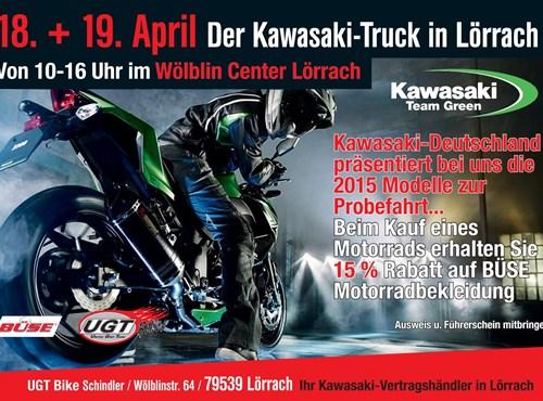 KAWASAKI Truck in Lörrach!