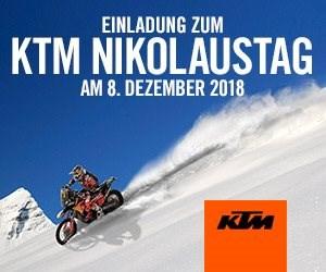 KTM Nikolaustag  Hiermit laden wir euch am 08.012.2018 ab 9.00Uhr zu unserem KTM Nikolaustag ein. Entdeckt bei Glühwein und Plätzchen die super aktuellen Angebote ...