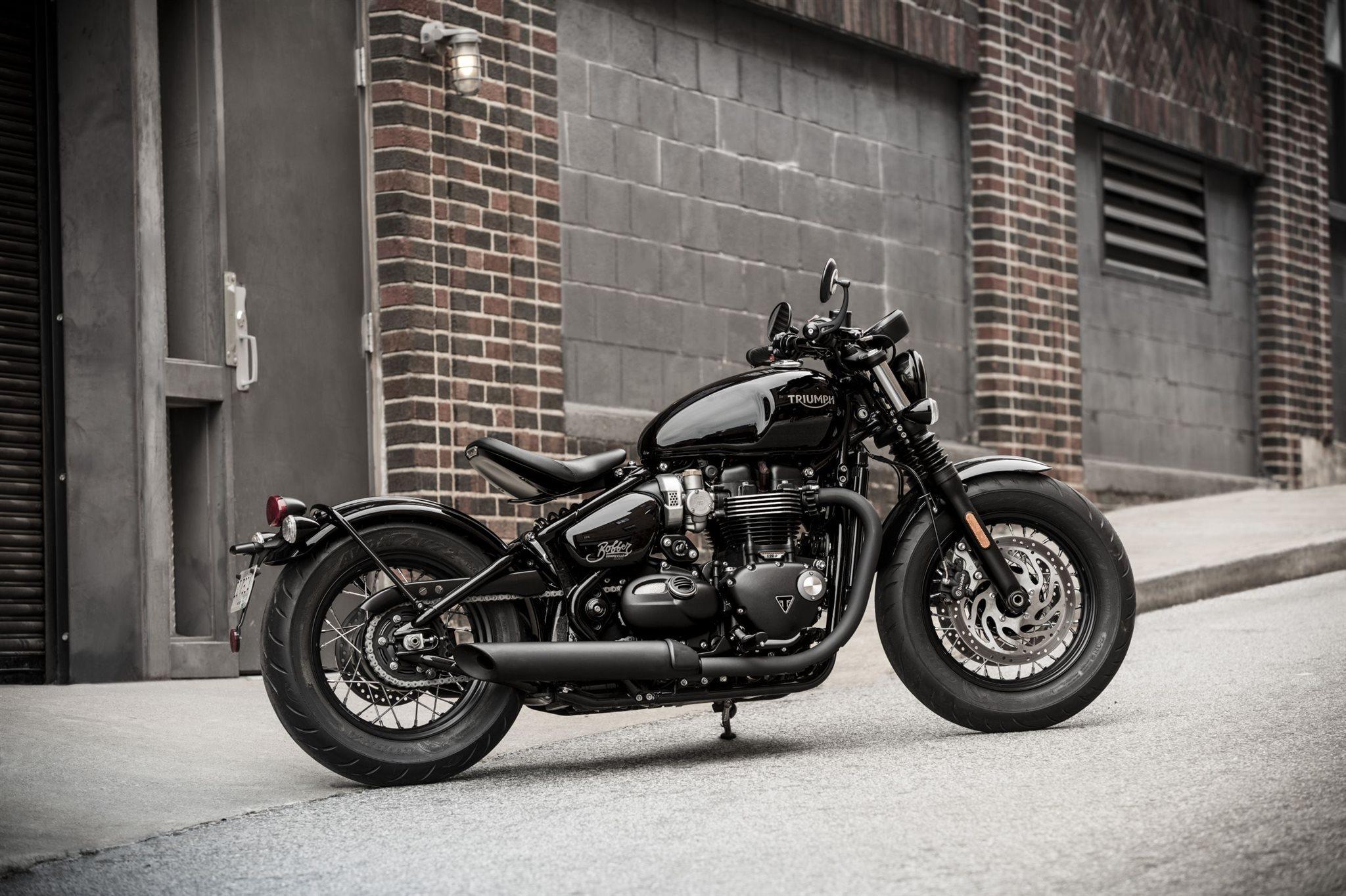Gebrauchte Und Neue Triumph Bonneville Bobber Black Motorrader Kaufen