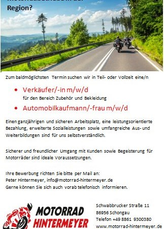 Verkäufer/in  // Automobilkaufmann/frau m/w/d
