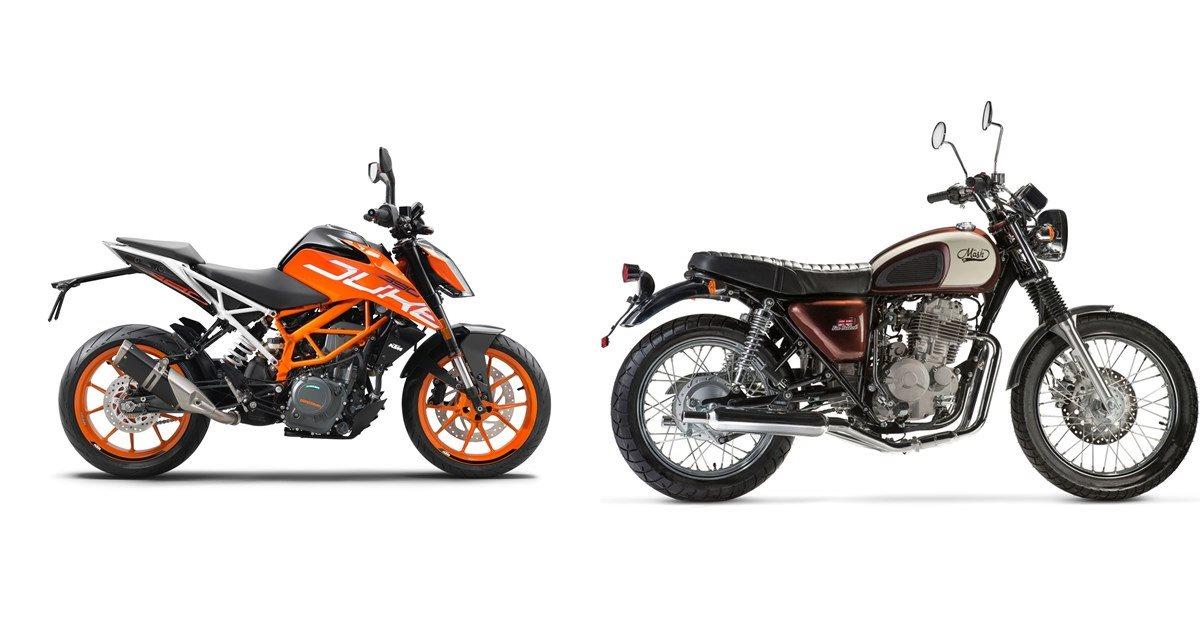 Motorrad Vergleich KTM 390 Duke 2020 vs. Mash Five Hundred ...