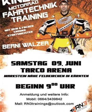 """RN3 """"Kids MX Fahrtechnik-Training"""" mit Berni Walzer RN3 """"Kids MX Fahrtechnik-Training"""" mit Berni Walzer TARCO ARENA in Markstein // Feldkirchen in Kärnten (PLZ: 9560) Samstag ... Weiter >>"""