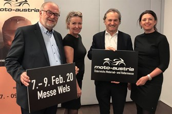 Premiere der moto-austria - Österreichs Motorrad- und Rollermesse