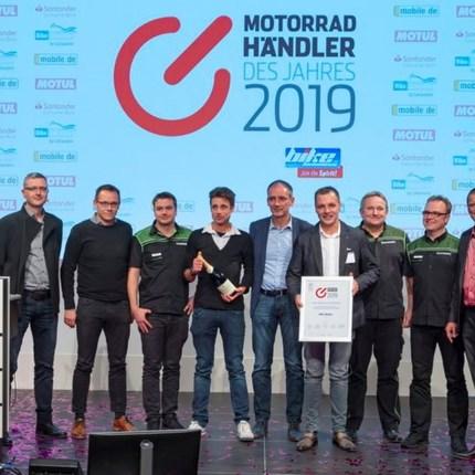Top-Platzierung bei Motorradhändler des Jahres 2019  Die Auszeichnung für exzellentes Vertriebs- und Servicegeschäft im Zweiradmarkt Die Fachmedienmarke »bike und business« prämier... Weiter >>