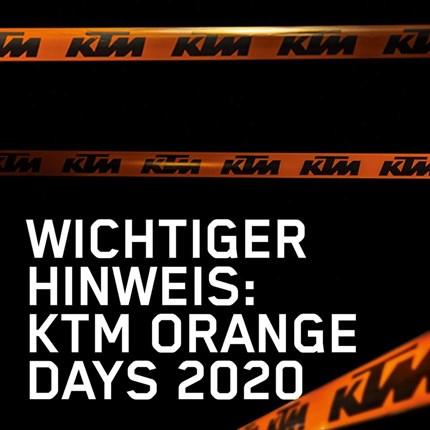 KTM Zauner Orange Day 2020  Liebe Kunden, Freunde und Geschäftspartner, aufgrund der aktuellen Situation und der damit verbundenen, vorübergehenden, gesetz... Weiter >>