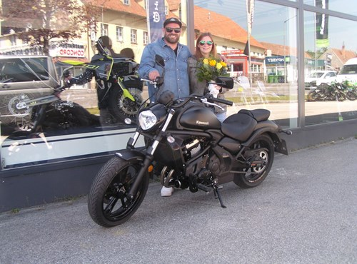 Roll out einer Kawasaki Vulcan S