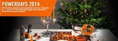 KTM Nikolaustag !!! nicht verpassen: KTM Nikolaustag am 6. Dezember von 8- 16 Uhr !!!  20 % Rabatt auf Bekleidung 10 % Rabatt auf KTM ... Weiter >>