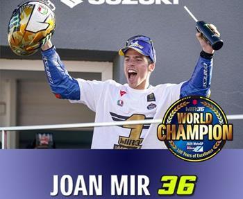 Joan Mir und das Suzuki ECSTAR Team sind MotoGP-Weltmeister 2020! Sowohl in der Fahrer als auch in der Team-Wertung konnte ... Weiter >>