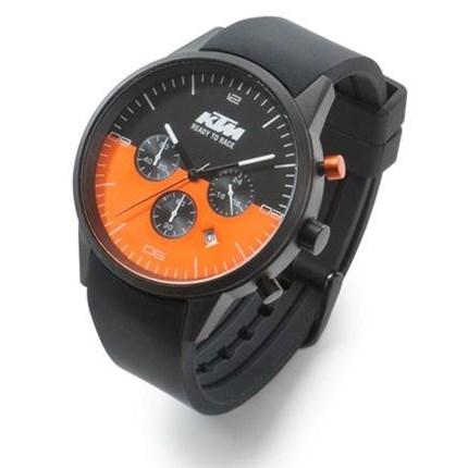 KTM PURE WATCH - wasserdicht !! KTM PURE WATCH 10 ATM wasserdicht Edelstahl-Gehäuse Chronograph mit Stoppfunktion