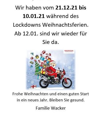 Lockdown und Weihnachtsferien
