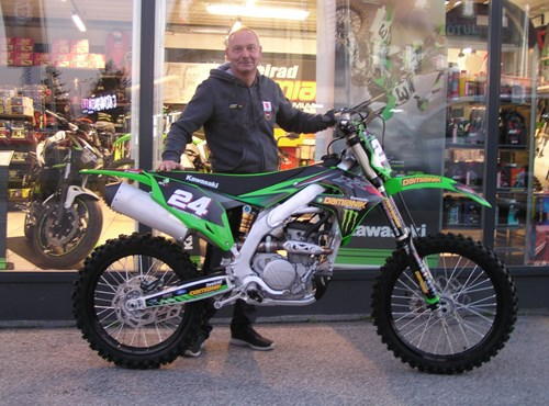 Roll out einer Kawasaki KX 250/2021