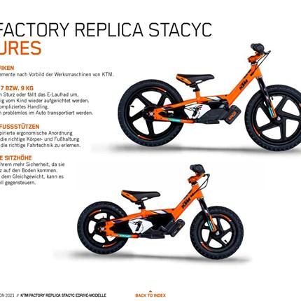 -20%  KTM Elektro Laufrad für Kinder -20% aufelektrische KTMLaufräder,in zwei Größen verfügbar Das KTM FACTORY REPLICA STACYC 12eDRIVE ist das ideale Starter-Bike... Weiter >>