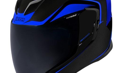 Icon Airflite ™ Helm Crosslink schwarz blau / hi-viz / rot