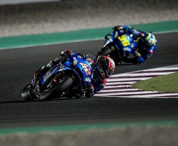 Beim ersten MotoGP-Rennen der Saison lieferten Alex Rins und Joan Mir vom Suzuki ECSTAR Team ein solides Ergebnis. Weltmeister Mir... Weiter >>